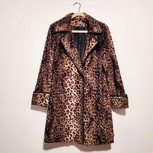 Liz Claiborne Leopard Long Coat